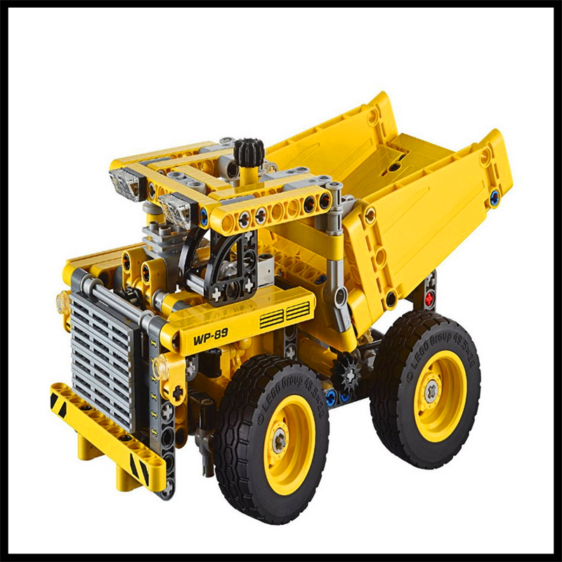 362Pcs Technic 2 In 1 Mining Truck Car Model Building Block LELE 38002 Figure Toys Gift For Children Compatible Legoe 608pcs race truck car 2 in 1 transformable model building block sets decool 3360 diy toys compatible with 42041
