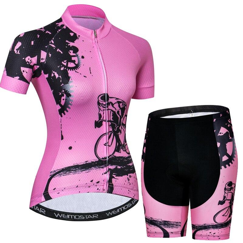 2018 Для женщин Vélo mtb велосипеда Джерси шорты набор гель площадку короткий рукав Велосипедная Форма велосипед одежда Ропа Майо