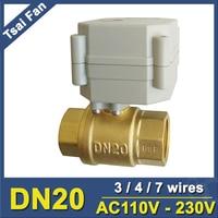 AC110V 230V TF Electric Ball Valve TF20 B2 C BSP NPT 3 4 Brass Valve 2