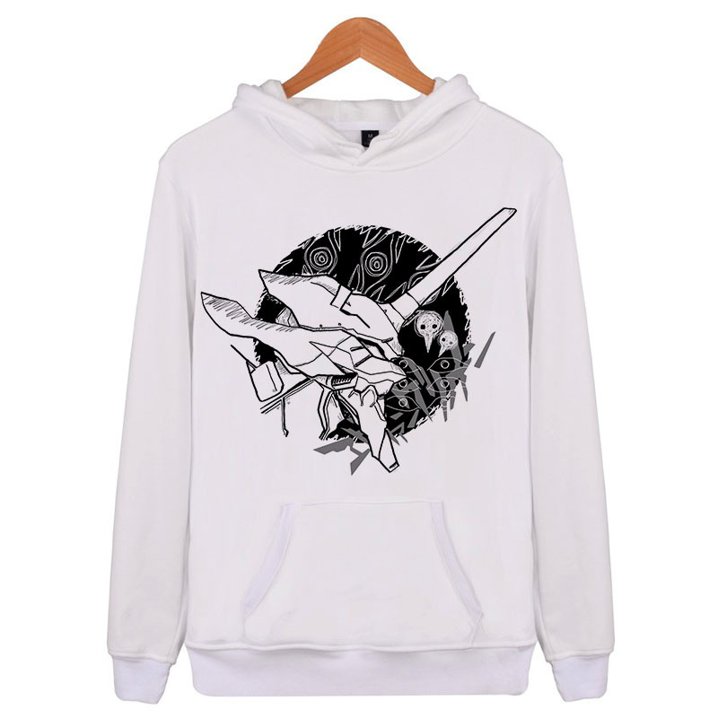 Evangelion Hoodie Men Women Pullover Sweatshirts Hip Hip Hoodies E4182