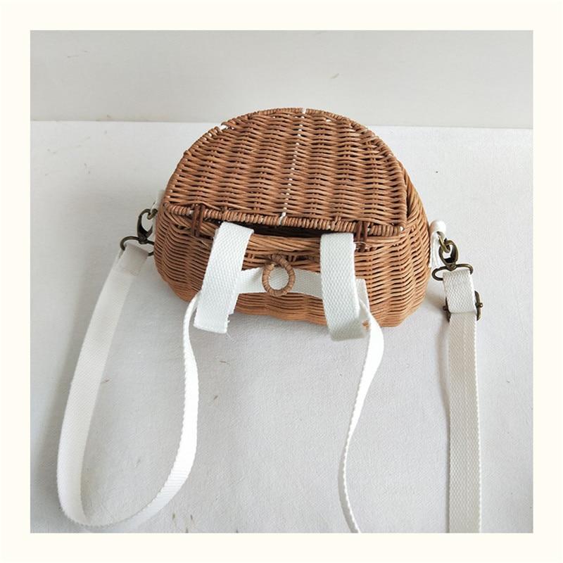 HTB1VJ70aRCw3KVjSZFlq6AJkFXaP Small big Back Basket Children Bicycle Basket Handmade Tattan bag Basket kid's backpack