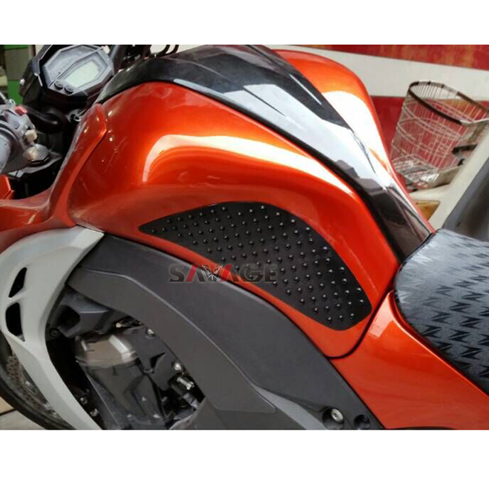 Moto Tank Traction Pad C/ôt/é Carburant Gaz Genou Grip Decal Protector pour BMW S1000RR 2010-2016 Noir