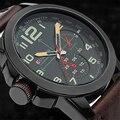 Мужская Спортивная Кварцевые Часы Curren Бренд Военные Наручные Часы Кожаный Ремешок Мужские Часы Мода Повседневная Мужчины Часы Человеко-Часов 8182