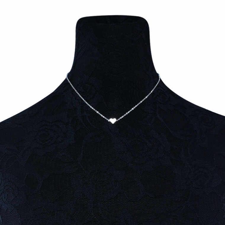 Bohemia Sederhana Bulan Bintang Jantung Kalung Kalung untuk Wanita Rantai Kalung Liontin Di Leher Chokers Kalung Perhiasan Hadiah