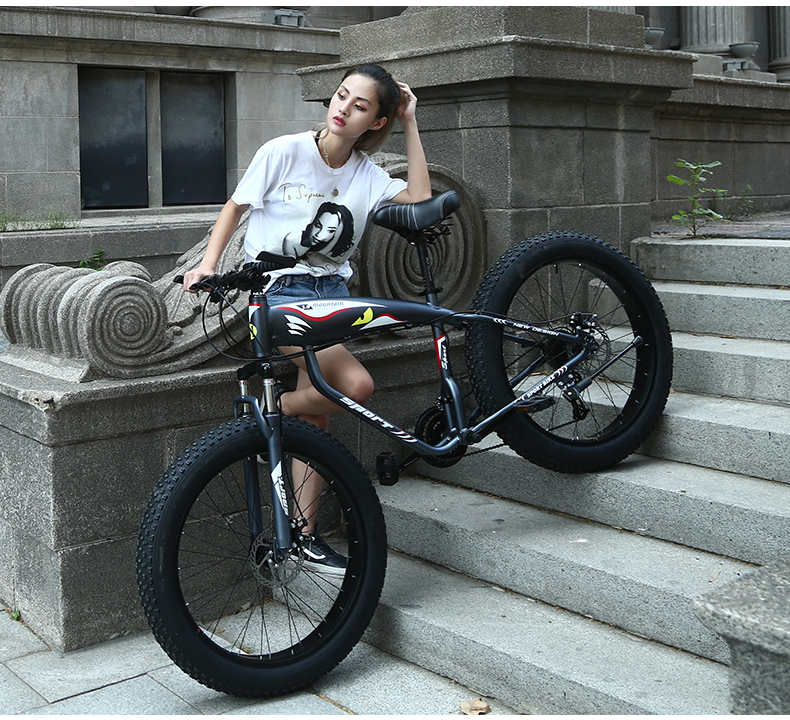 """Youma new arrival 7/21/24/27 speeds Fat bike 26 inch 26x4.0"""" Fat Tire Snow Bicycle free shipping"""