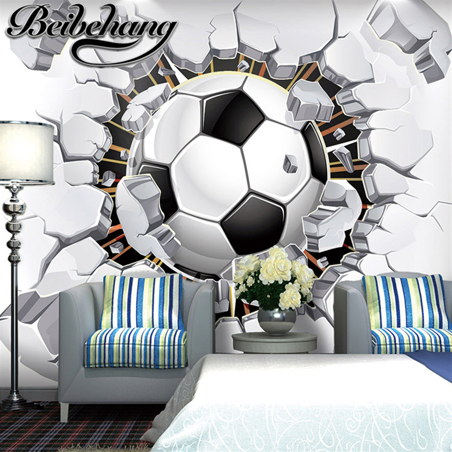 beibehang custom Soccer photo wallpaper 3D Wall passion wallpaper for the Cup soccer world ...