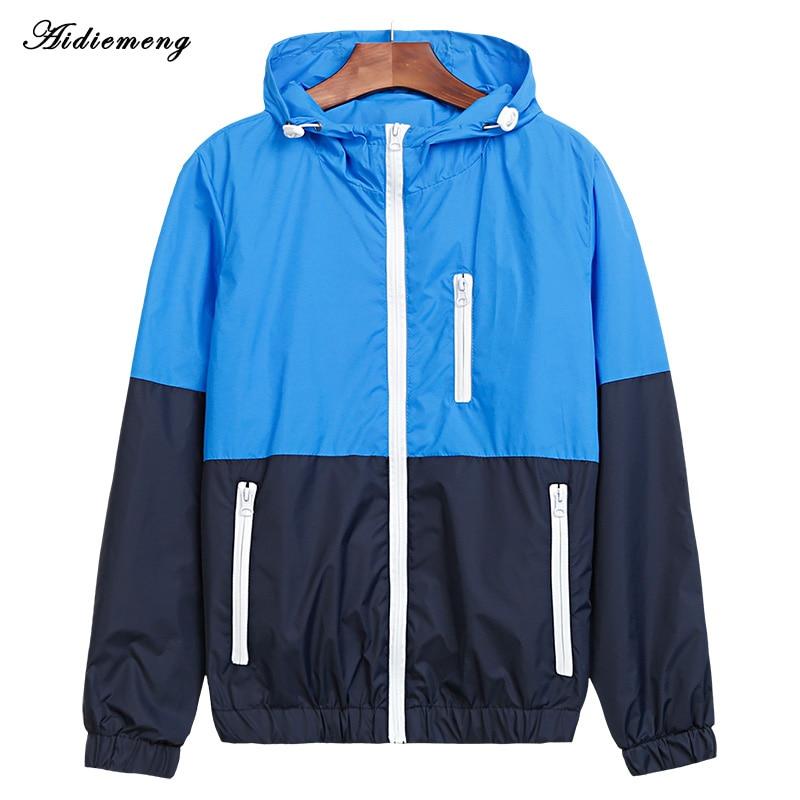 Куртка чоловіча Вітровка 2018 Осінь Модна куртка чоловіча з капюшоном Куртки чоловічі Куртка для чоловіків Тонке пальто для одягу JK101