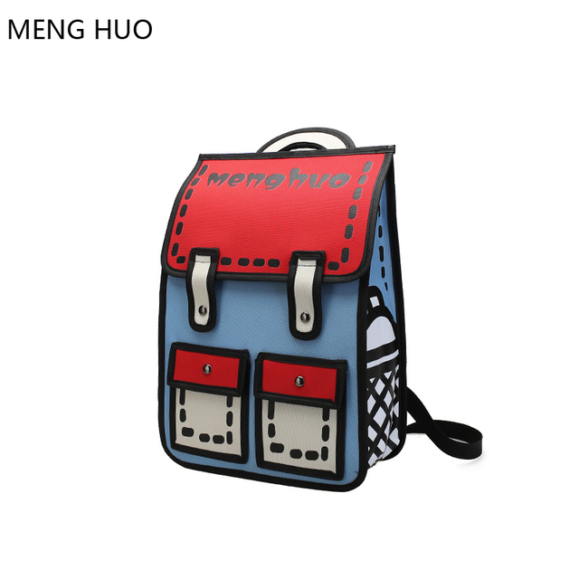 Harajuku Schoolbags For Agers 3d Printing Backpack Anese Book Bag Cute Backpacks High School Rucksacks