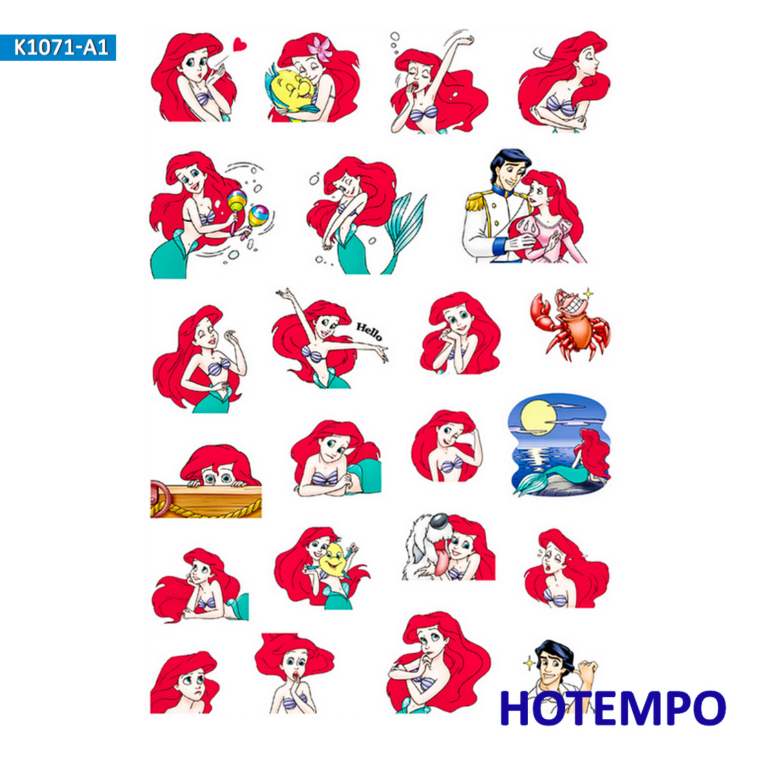 Mermaid Princess Ariel Cartoon Stickers For Children DIY Letter Diary Scrapbooking Stationery Pegatinas Stickers