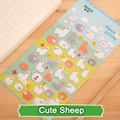 SST* 1 Sheet ' Cute Sheep ' Cartoon Kids Toys 3D Sticker DIY Kawaii Diary Decoration Scrapbooking kindergarten Stationery Cute+