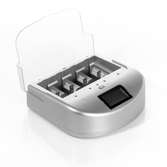 EBL LCD Smart 18650 Battery Charger for AA AAA Li-ion Ni-Mh Ni-Cd Battery C D 26650 Universal free shipping