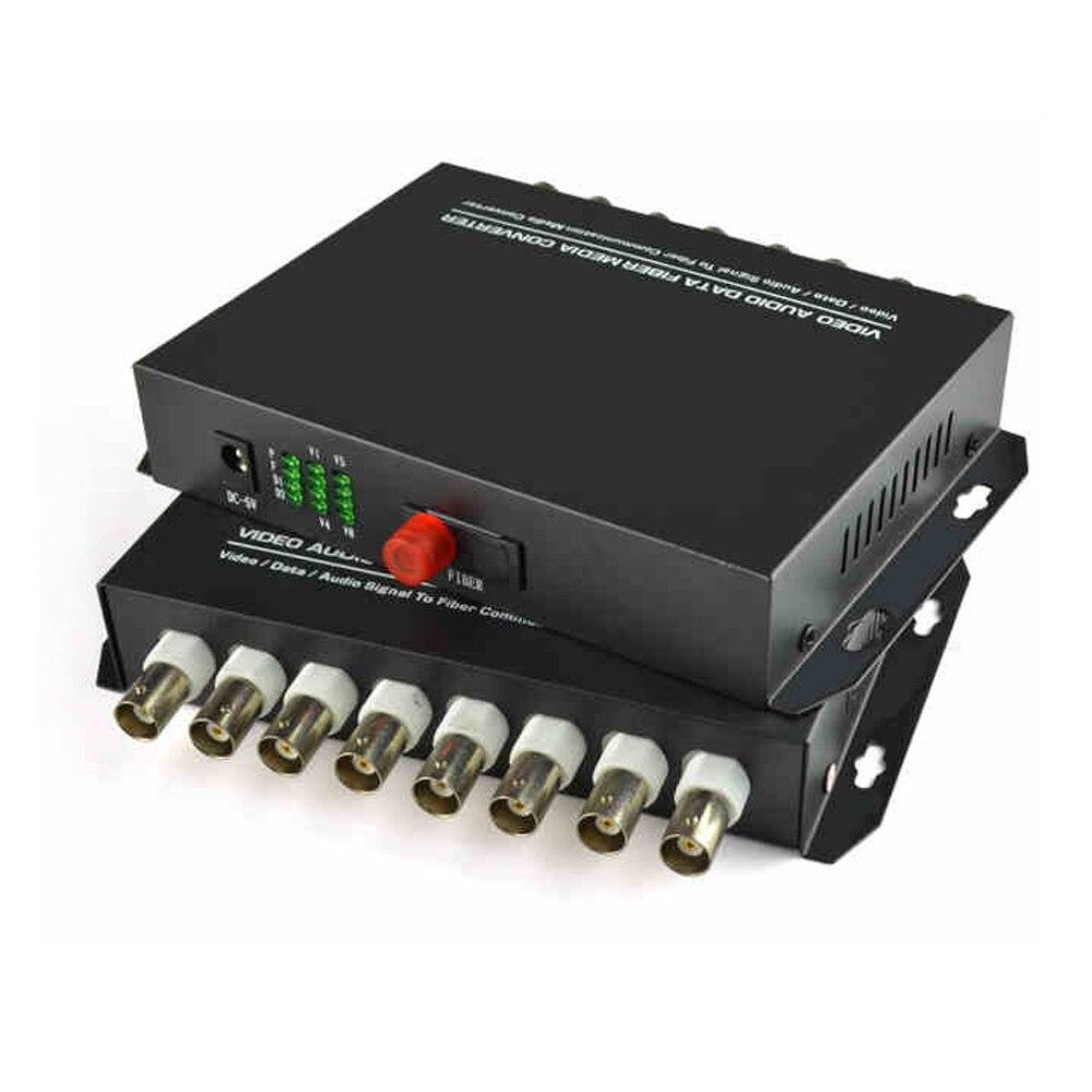 Transmetteur/récepteur de médias de Fiber optique de vidéo numérique de 8 canaux pour des caméras de télévision en circuit fermé de système de sécurité