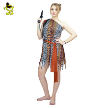 Adults Jungle Caveman Costume Ancient People Dress Cosplay Carnival Stone Age Stag Halloween Female Party  Costumes