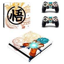 Dragon Ball Z Goku PS4 тонкая кожа Стикеры наклейка для sony Игровые приставки 4 консоли и 2 контроллера кожи PS4 тонкий Стикеры винил
