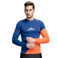 SBART 2016 2MM Wetsuit Men Neoprene Shirt Swim Dive Surf Shirts Long Sleeve Rash Guard Neopreno Keep Warm Plus Size M 3XL P740