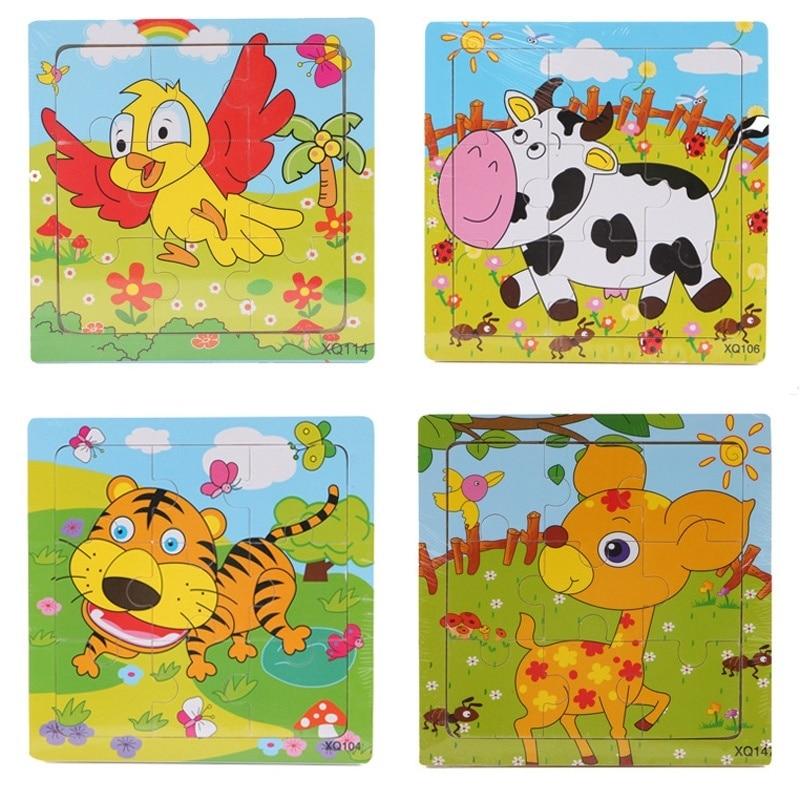 2 pcs enfants en bas âge jouet éducatif cadeau animaux de dessin - Jeux et casse-tête - Photo 6