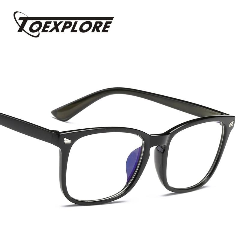 6ed19fdbfdd TOEXPLORE Fashion Men Women Eyewear Frame Classic Vintage Retro Goggle  Brand Designer Plain Glasses Anti-Blu-ray for computer