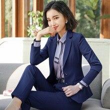 Pant Suits For Women Blazer Set Autumn Lady Business Office