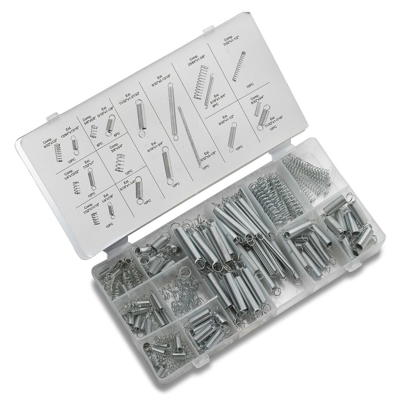 EWS-200pcs/lot Metal Hardware Spring Assortment Hardware Set Electrical Tension Compression Carburetor Extension Springs kit 200pcs lot 2sa950 y 2sa950 a950 to 92 transistors