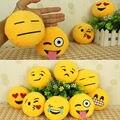 Atacado New bonito Emoticon Smiley amarelo almofada Stuffed Plush Toy Mini suave Emoji Emoticon brinquedo