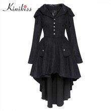 Kinikiss Новая осень Для женщин Тренчи для женщин Пальто для будущих мам плюс Размеры черный с капюшоном Асимметричная ветровка уличный стиль Бейсбол Повседневная Верхняя одежда