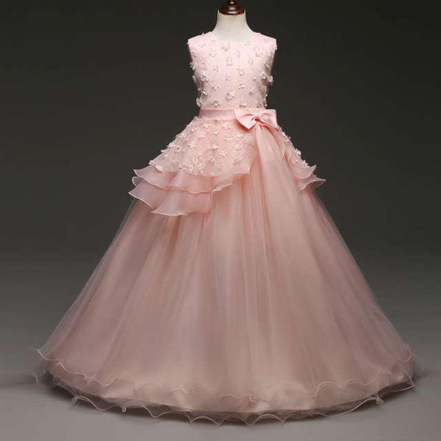 786a1d86e Online Shop Fancy Baby Kids Girl Long Tulle Dress Girl s Christmas ...