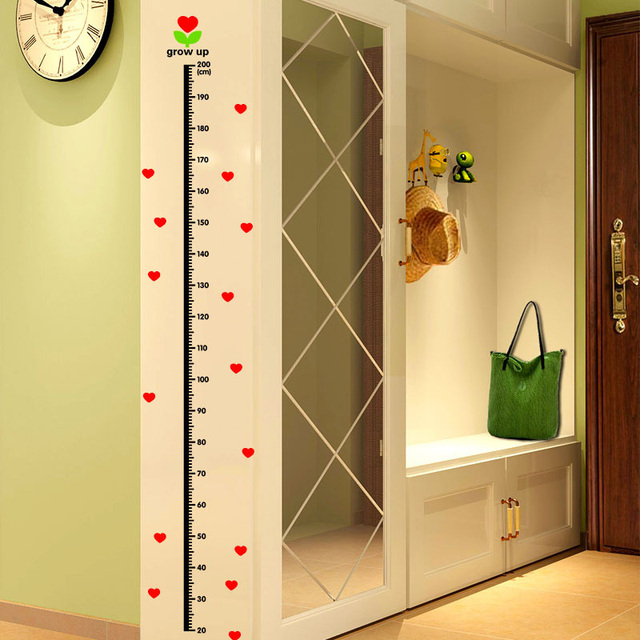 Under Sea Animal Heart Height Measure Decal Wall Sticker For DIY ...