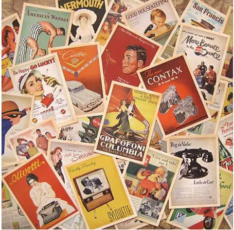 32 Pcs/lot Classical Famous Posters Vintage Style Memory Postcard Set Greeting Cards Gift New Years Postcards