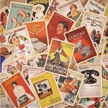 32 unids/lote clásico póster famoso estilo Vintage tarjeta de memoria conjunto tarjetas de felicitación regalo Año Nuevo postales