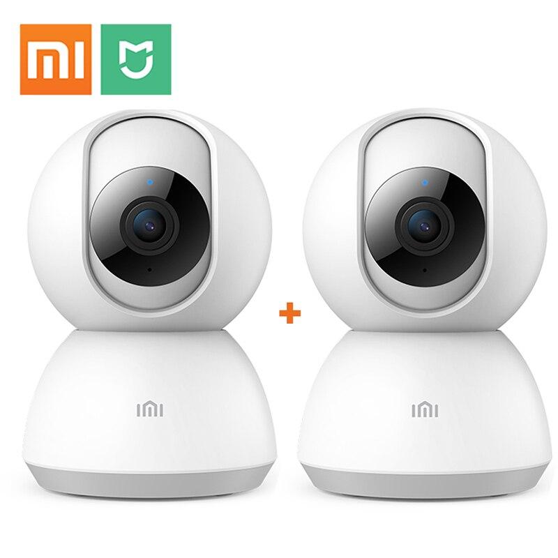 2 pièces sans fil sécurité à domicile Xiaomi IP caméra 1080 P 2MP H.265 deux voies Audio bébé moniteur Mini Smart Wi-fi caméra Wifi CCTV Ip caméra