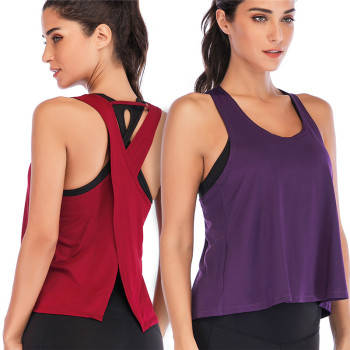 Workout Active Cross Back Tank Top – Gym, Fitness, Running, Crossfit, Yoga