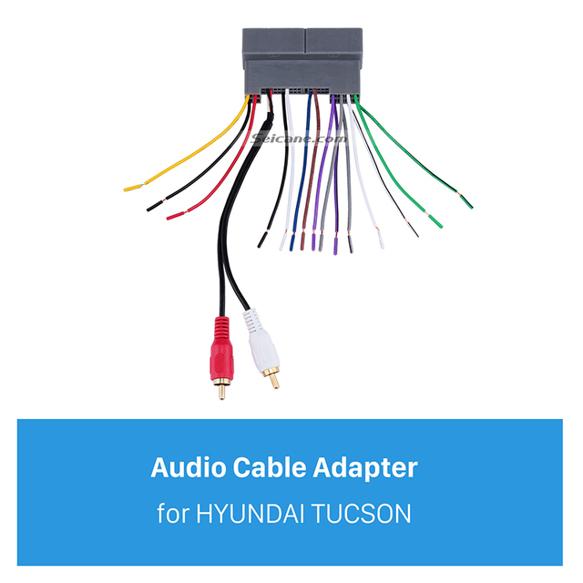Super Seicane Top Audio Cable Wiring Harness Plug Adapter For Hyundai Wiring 101 Orsalhahutechinfo