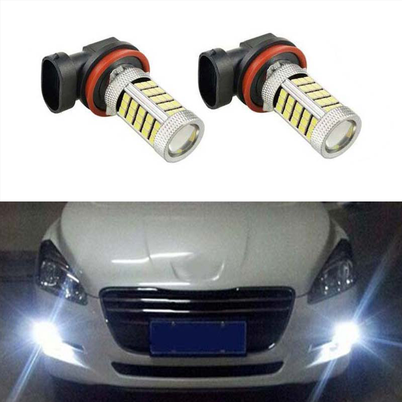 Led Auto Lights >> Us 9 93 33 Off 2x H8 H11 Led Bulb Fog Lights Car Lamp Auto Light Bulbs For Ford Mondeo Mk3 Mk4 C Max S Max Focus 01 Fusion In Car Light Assembly