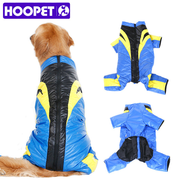HOOPET Big Dog Clothes Coats Overalls Thick Warm Parkas Racing Driver Clothes Design Jacket
