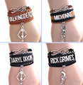 HOT Infinity Bracelet MICHONNE fighting With the dead Rick grimes DARYL DIXON Bracelet THE Walking Dead Bracelet