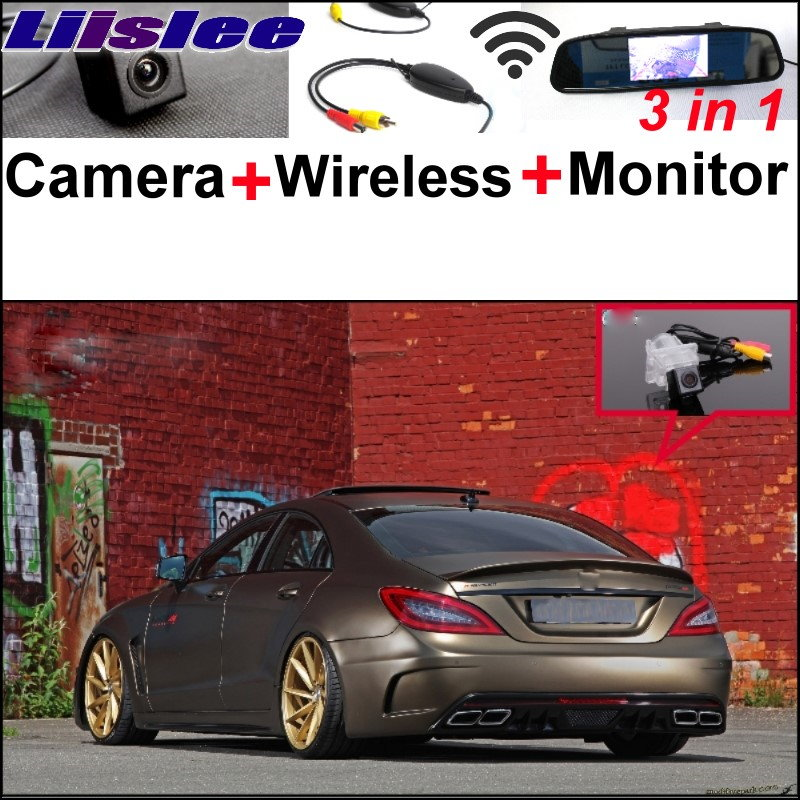 Liislee For Mercedes Benz CL MB W216 / CLS W218 Special Camera + Wireless Receiver + Mirror Screen 3in1 Backup Parking System auto fuel filter 163 477 0201 163 477 0701 for mercedes benz