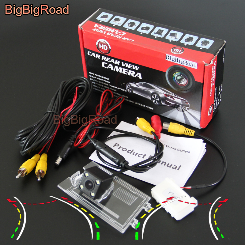 BigBigRoad Car Intelligent Track Rear View Parking Camera Waterproof For Jeep Compass Patriot 2011 2012 2013