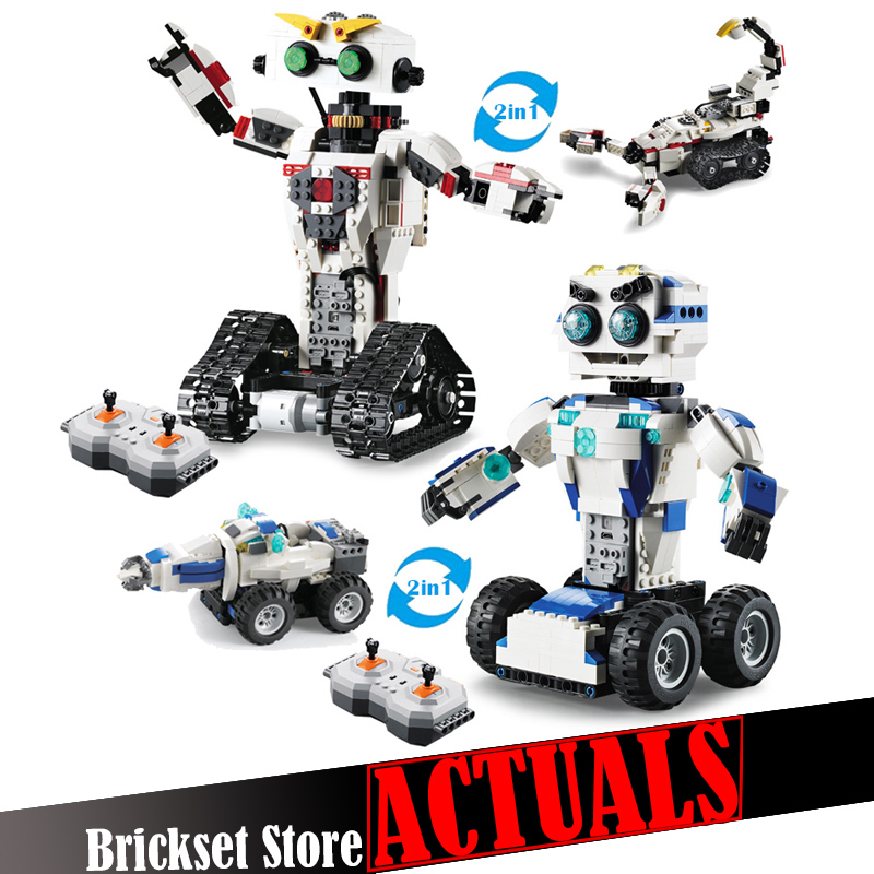 Technic Space Robot Remote Control 2in1 Creator Building Blocks Bricks DIY Toys Enlighten For Children Compatible with legoINGly