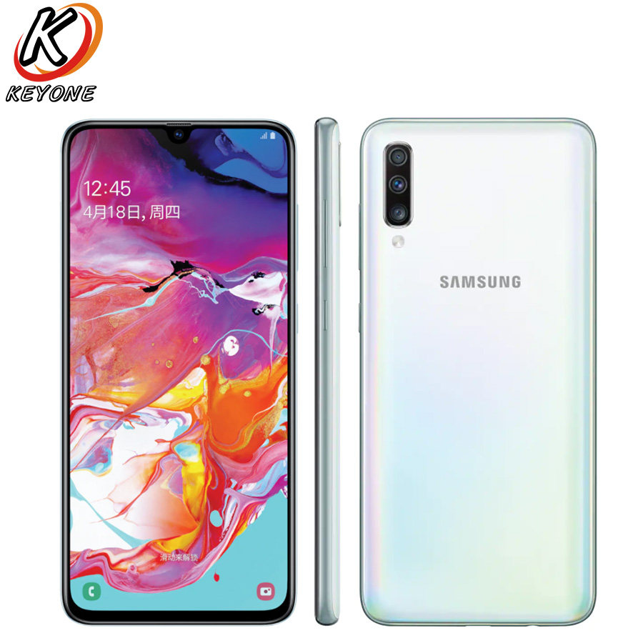New Samsung Galaxy A70 A7050 Mobile Phone 6.7″ 8GB RAM 128GB ROM Snapdragon 675 Octa Core 20:9 Water Drop Screen NFC CellPhone