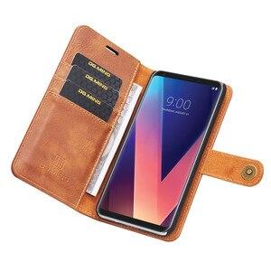 Image 4 - Роскошный кожаный чехол бумажник DG.MING для LG V30 V20 G6, съемный магнитный откидной Чехол с отделениями для карт для iPhone 6 6s 7 8 Plus X 5 5s SE