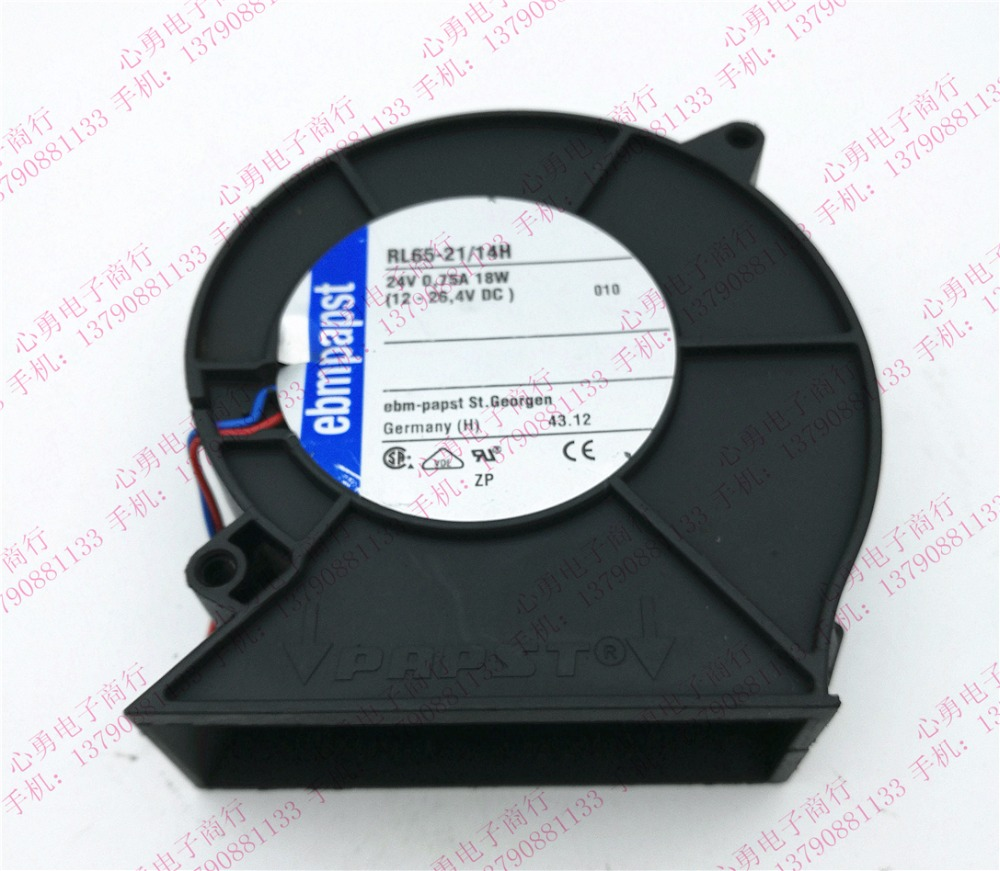 ebm papst ebm-papst RL65-21/14H DC 24V 18W 96x92x32mm Server Blower fan ebm papst papst typ 6248 n 22 dc 48v 18w 4 wire 4 pin 170x170x50mm server round fan