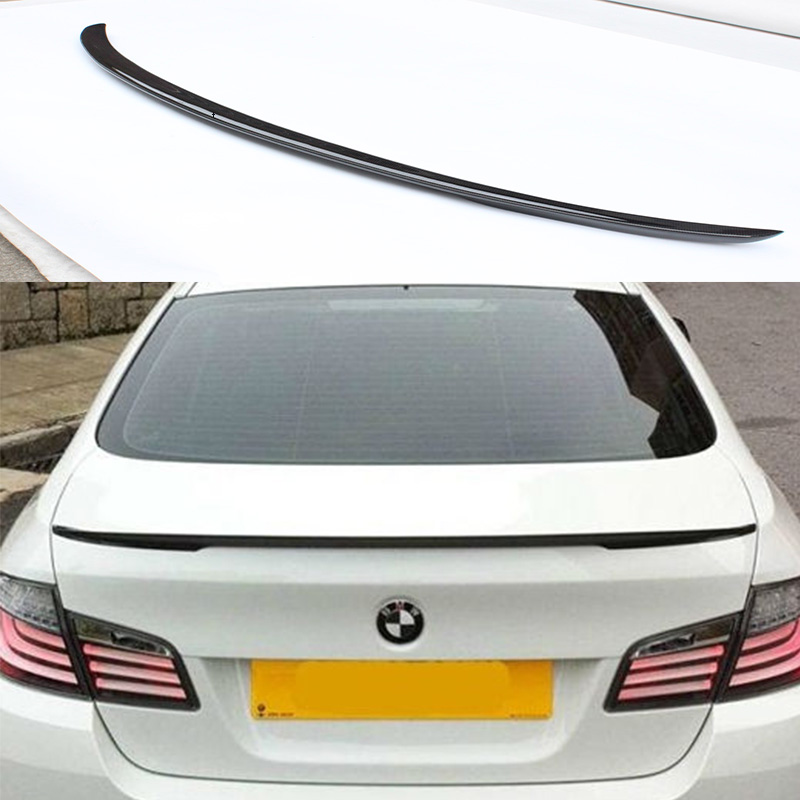 F10 M5 Performance Style Carbon Fiber Car Rear Trunk lip Spoiler Wing For BMW F10 M5 2011-2015 carbon fiber nism style hood lip bonnet lip attachement valance accessories parts for nissan skyline r32 gtr gts