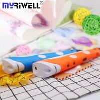 Myriwell Magic 3d ручка для детей Лучший 3d принтер Ручка Рисунок живопись ручка ABS PLA нити подарки на день рождения 3 d ручка высокого качества