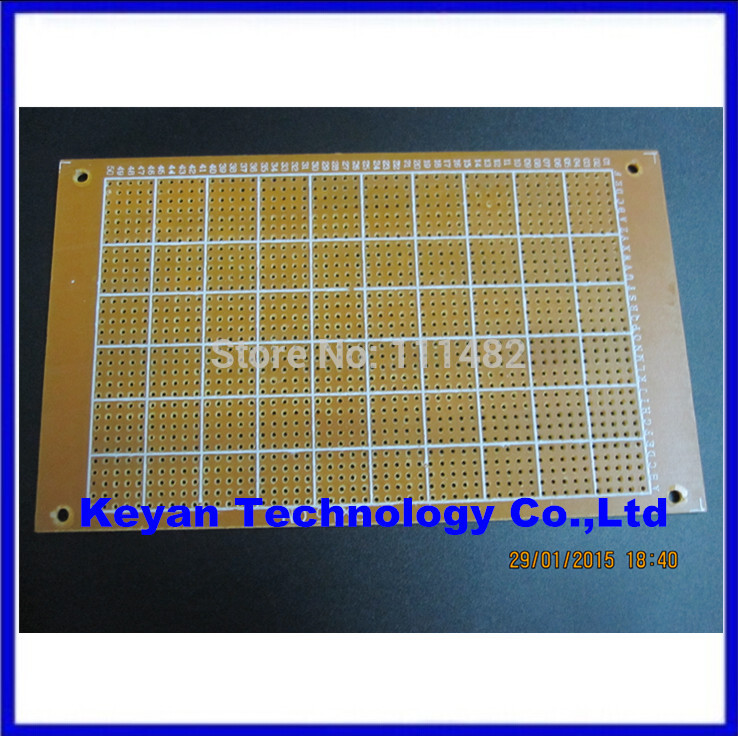 Free shipping 50Pcs new Prototype Paper Copper PCB Universal Experiment Matrix Circuit Board 5x7cm Brand