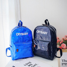 2018 New Mirror Reflection Laser Letter Woman Bag Fashion Autumn and Winter Backpack Personality Korean Version Double
