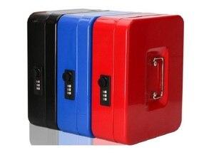 Image 1 - Cajas de seguridad de acero con llave y contraseña para guardar compartimento de almacenamiento, hucha de papel, pequeña, tarjeta de cambio, cajas de documentos con cerradura