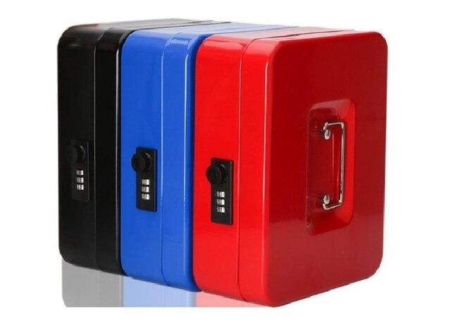 Cajas de seguridad de acero con llave y contraseña para guardar compartimento de almacenamiento, hucha de papel, pequeña, tarjeta de cambio, cajas de documentos con cerradura