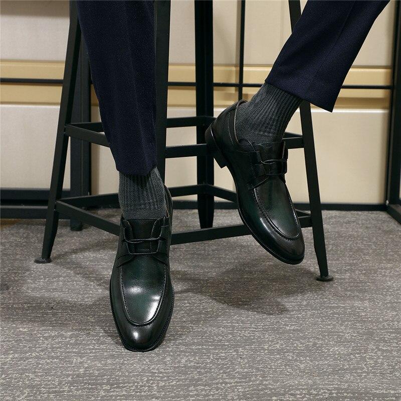 Para Hombre Marca La Vintage Transpirable Los Nueva Vestir De Banquete Hombres Negocios Formal Cuero green Derby Vaca Genuino Italiano Zapatos Brown Diseñador U4w4XxdqH