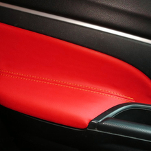 For Mitsubishi ASX 2013 2014 2015 2016 4pcs/set Car Door Handle Armrest Panel Microfiber Leather Cover накладка заднего бампера mitsubishi mz576692ex для mitsubishi asx 2016