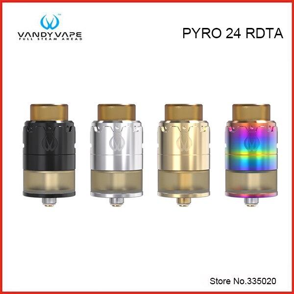 Original Vandy Vape PYRO 24 RDTA Tank 2ML 4ML with Innovation in fill mode Postless